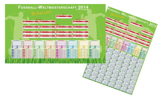 Poster-Spielplan zur Fussball WM 2014