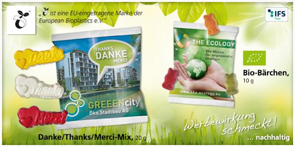 Werbeartikel Bio - Suesse Werbung
