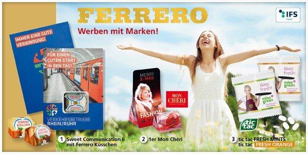 Werbeartikel von ferrero