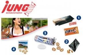 Grafik Werbeartikel JUNG Messe Snacks 2014