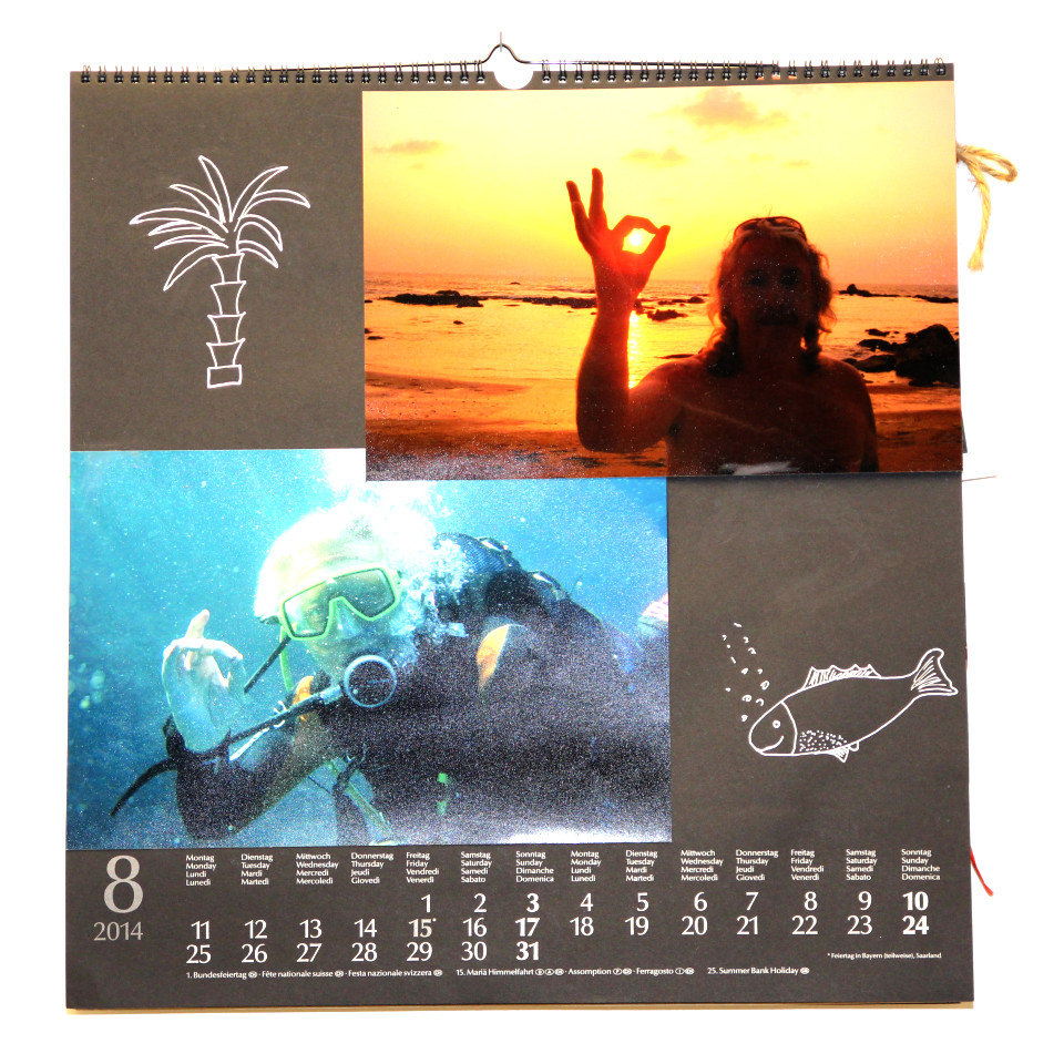 ADICOR Foto Kalender Monat August