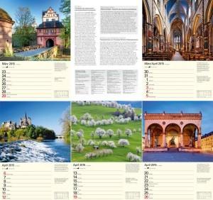 Werbeartikrl Bildkalender Deutschland 2015