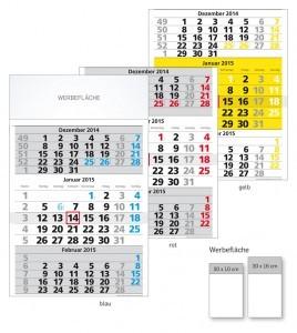 Werbeartikel 3-Monatskalender Basic deutsch