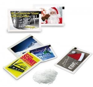 Grafik Werbeartikel Schnee-Briefchen