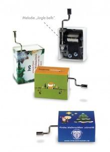 Grafik Werbeartikel Mini-Drehorgel