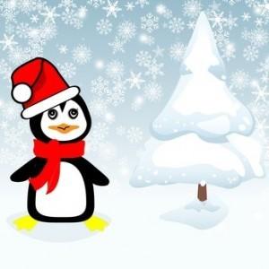 Grafik Weihnachten Pinguin