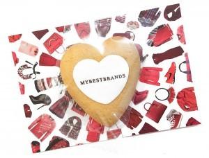 Werbeartikel Cookie als Herz klein