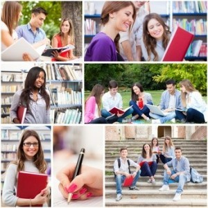 Motiv-Collage Studenten