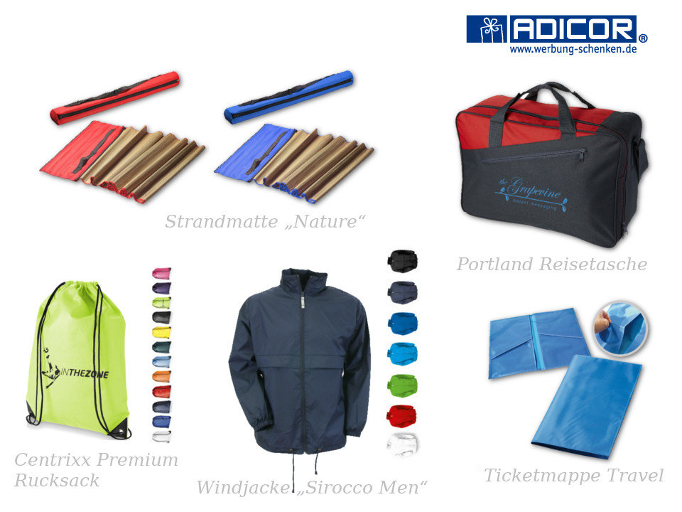 Produktmotiv Werbeartikel Reisebüro und Touristik