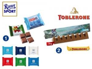Werbeartikel Ritter Sport Mini, Toblerone
