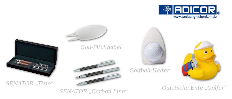 Werbeartikel Golfclubs