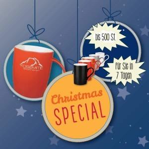 Teaser Christmas Special Werbeartikel Tassen mit Logo - www.werbung-schenken.de