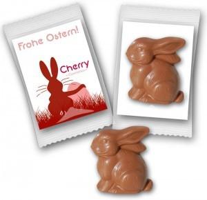 Werbeartikel Ostern Osterhase aus Schokolade - www.werbung-schenken.de