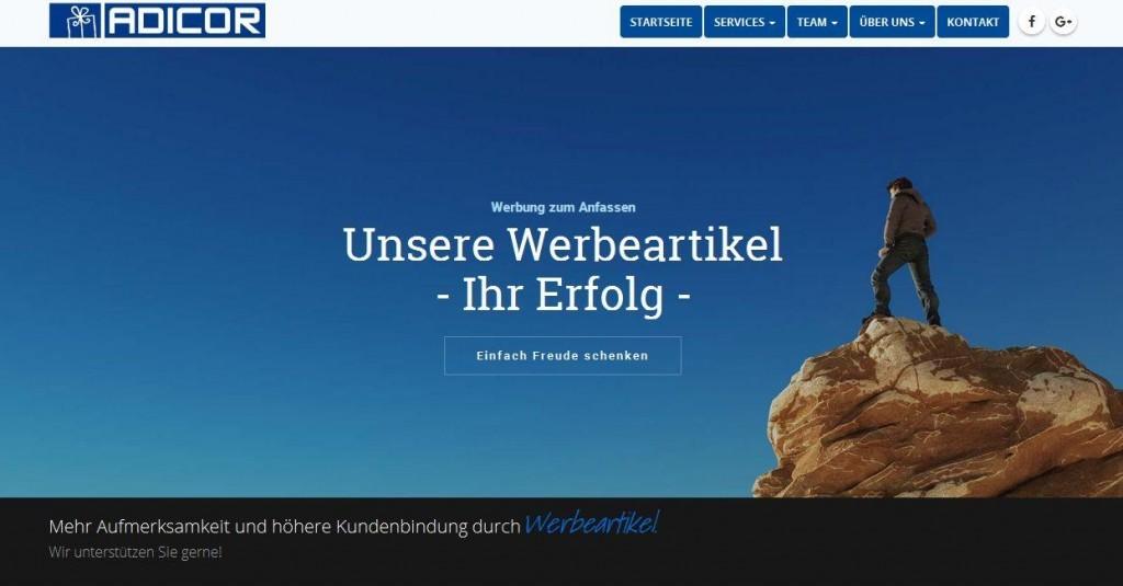 Adicor.de Startseite - www.werbung-schenken.de