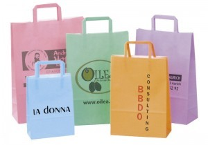 Werbeartiekl Papiertasche Standard Color - www.werbung-schenken.de