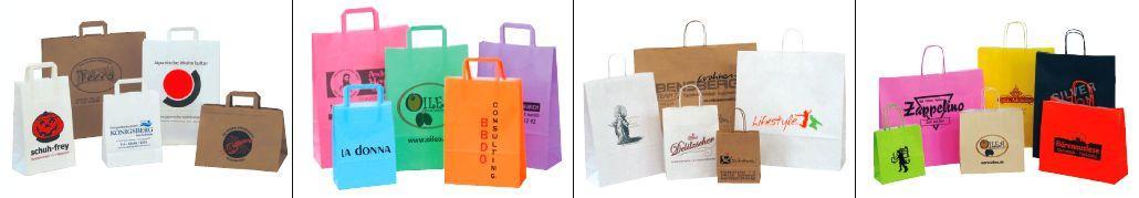 Werbeartikel Papiertaschen mit Logodruck - www.werbung-schenken.de
