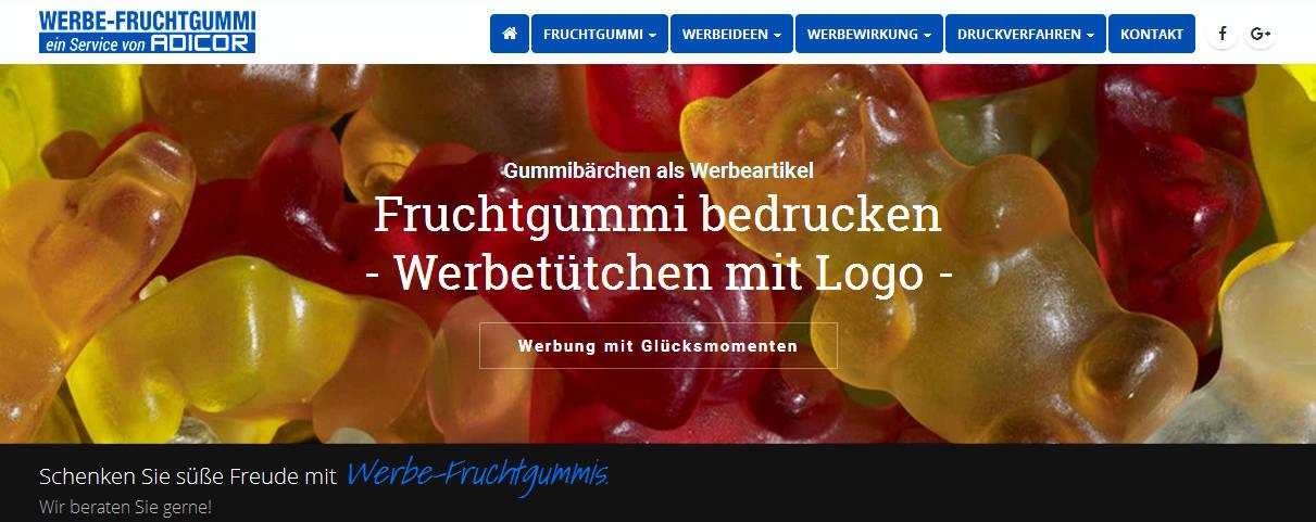 Werbeartiel Fruchtgummi bedrucken -www.werbung-schenken.de