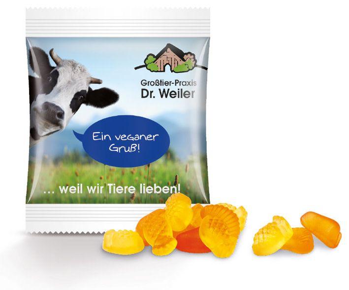 Werbeartikel vegane Fruchtgummis - www.werbung-schenken.de
