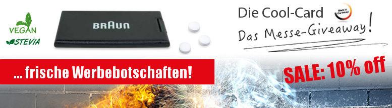 Werbeartikel Cool-Card Aktion 2017 - www.werbung-schenken.de
