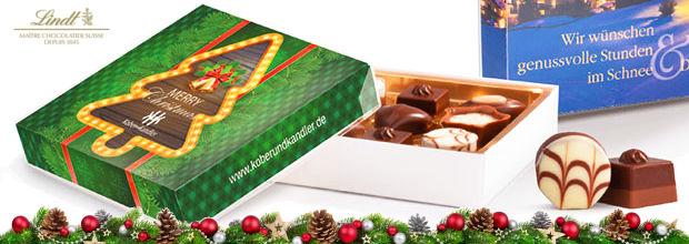 Werbegeschenk Weihnachten Lindt Mini-Pralines - www.werbung-schenken.de