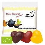 Werbeartikel Bio-Fruchtgummi Herzen - www.werbung-schenken.de