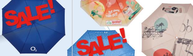 Teaser Werbeartikel Regenschirme Rabatt-Aktion 2018 - www.werbung-schenken.de