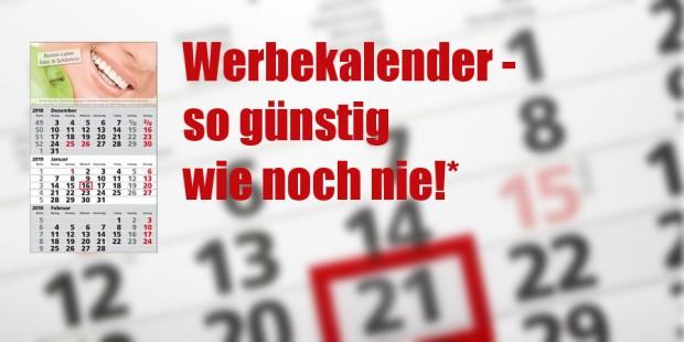 Werbeartikel Kalender Rabatt-AKTION - www.werbung-schenken.de